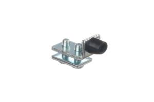 Okucia do ekranów spawalniczych - stalowo-gumowy stoper do szyny KIN34