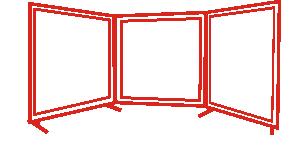 Ekrany spawalnicze mobilne