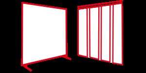 Kurtyny i ekrany spawalnicze stałe