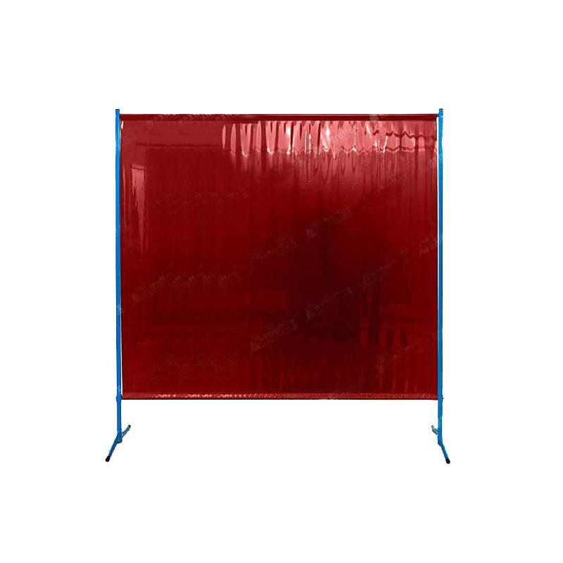 Chroniący przed promieniowaniem IR UV czerwony ekran spawalniczy ES200 , przezroczysty