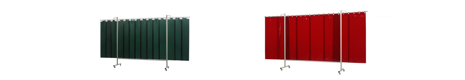 Ekran spawalniczy składany zielony lub czerowny