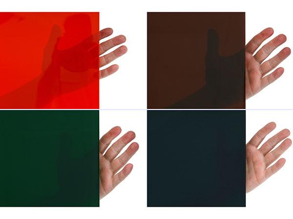 Ekran spawalniczy - cztery stopnie przezroczystości