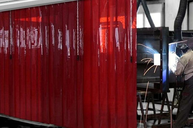 Lamela spawalnicza czerwona tonajlepsza ochrona przed promieniowaniem świetlnym zgodnie z normą ISO 25980