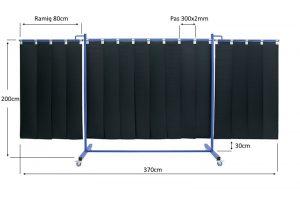 Wymiary ekranu spawalnizego KinerFlex370 pas 300x2