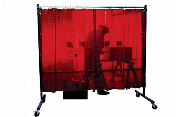 Ekran spawalniczy mobilny KinerFlex czerwony 21Z