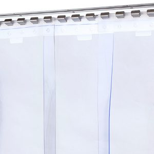 Kurtyna ochronna, transparentna z folii standard