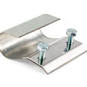 Mankiet metalowy na rure calową - montaz arkuszy spawalniczych