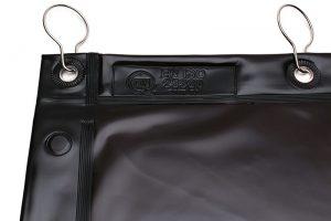 Zasłony spawalnicze brązowe, transparentne KIN-2