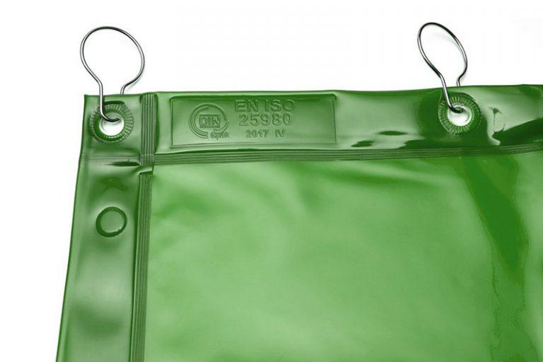Zasłony spawalnicze transparentne zielone KIN-4