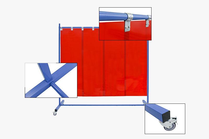 Budowa ekranu spawalniczego, mobilnego KinierFlex21P570