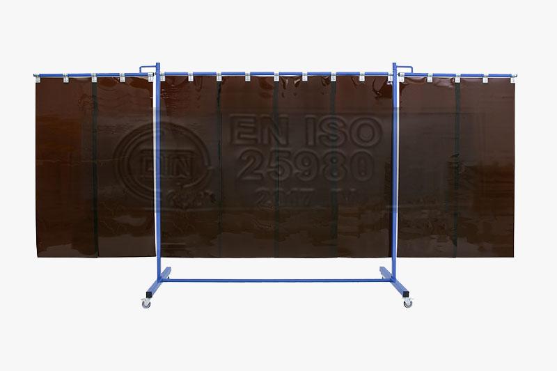 Ochrona przed promieniowaniem świetlnym zgodnie z normą ISO 25980 - ekran spawalniczy KinerFlex37P500
