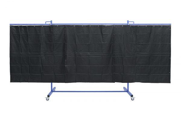 Matowe, ciemnozielone zasłony w ekranie spawalniczym KinerFlex41Z