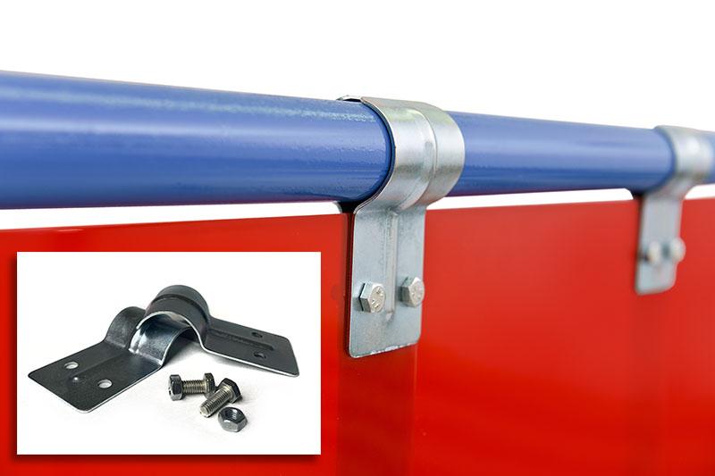Jak zamocować pasy spawalnicze czerwone 570mm w kurtynie spawalniczej