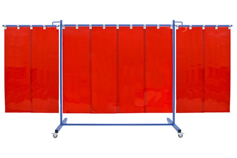 Pasy spawalnicze czerwone 570mm jako wypełnienie przeciwpromienne w ekranach i kurtynach spawalniczych
