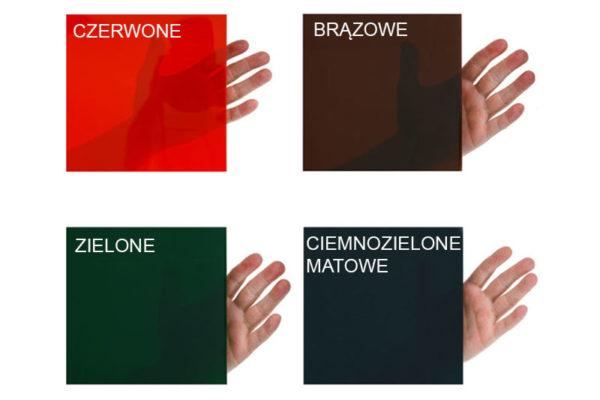 Cztery kolory pasów spawalniczych -wizualizacja stopnia przezroczystości