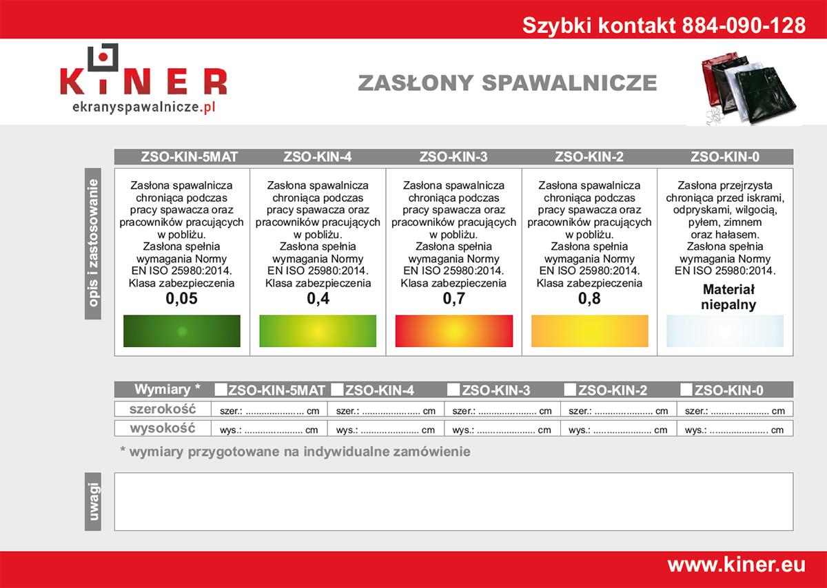 Rozmiar zasłon spawalniczych - zestawienie kolorów, norm i klas zabezpieczeń