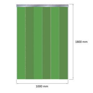 kurtyna spawalnicza zielona 100x180cm