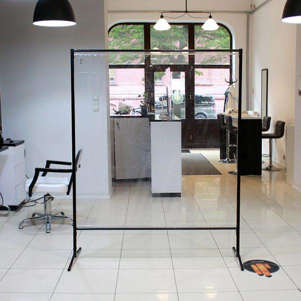Przegroda ochronna do restauracji oraz salonu fryzjerskiego a także gabinetu kosmetycznego