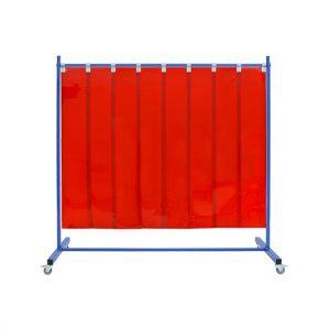 Czerwony mobilny ekran spawalniczy pasy folii PCV 300x2mm