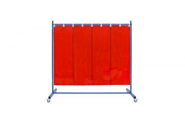 czerwony ekran spawalniczy 210 z pasami 570x1mm