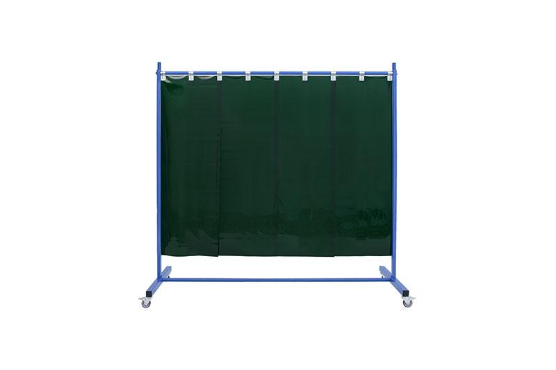 Jasnozielony ekran spawalniczy 210 z pasami 570x1mm