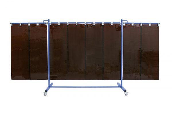 Brązowy ekran spawalniczy KinerFlex41 z pasami 570x1mm brązowymi
