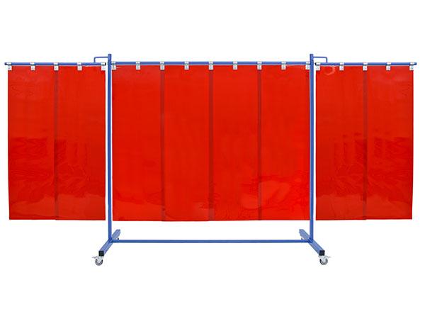 Rozkładane ekrany spawalnicze wypełnione arkuszami foliowymi o szerokości 570mm