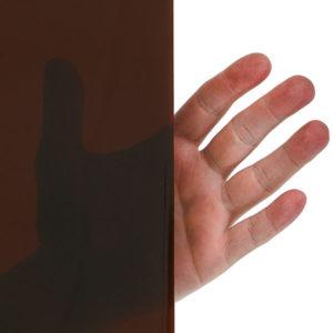 Parawany spawalnicze z wypełnieniem o dużej przezroczystości - kolor brązowy