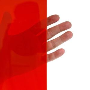 Parawany spawalnicze z folii czerwonej mocno przezroczystej